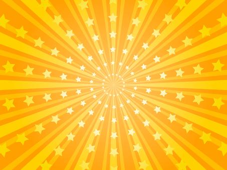 星星的輻射背景(黃色)