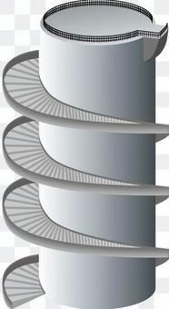 螺旋階段 階段 回る 登る 降る 塔