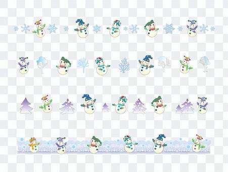 Line _ Snowman 01