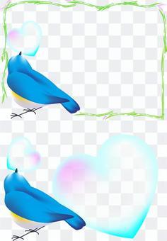 攜帶心臟的鳥(側身)
