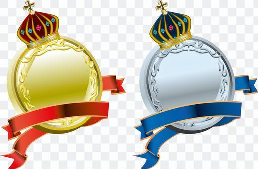 王冠 メダル リボン 飾り ゴージャス