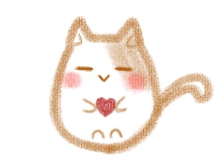 圓的貓和心