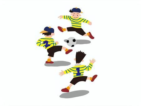 illust-033  - 踢足球的孩子