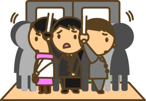 擁擠的火車