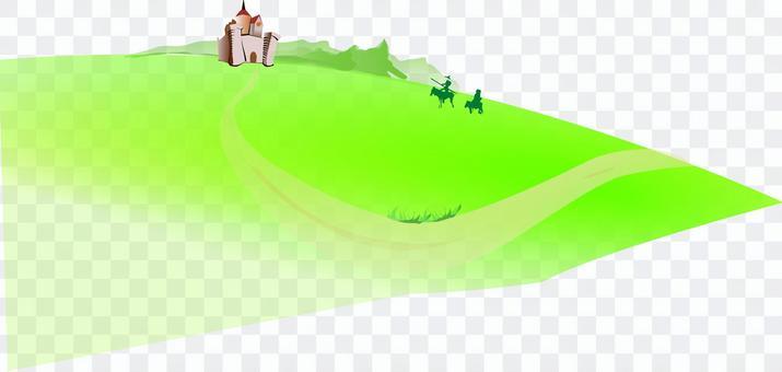 Castle soldier landscape