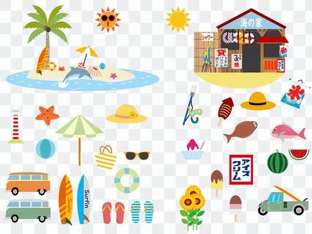 熱帶度假勝地和昭和海灘套裝