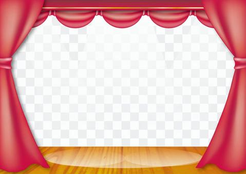 Stage / theater curtain frame_PNG transparent