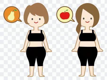 蘋果型和西式無身體01