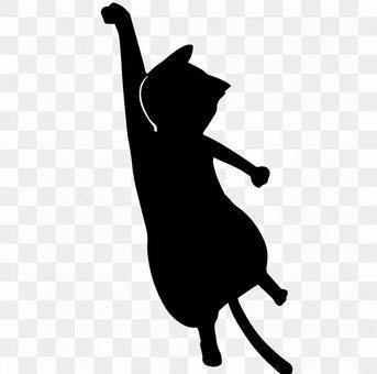 黑貓剪影掛