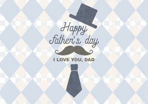 留著鬍子和領帶的父親節留言卡