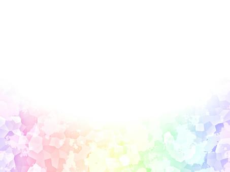 呈虹彩水晶框架背景夢幻般的漸變