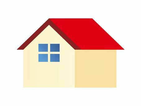 紅色的屋頂房子