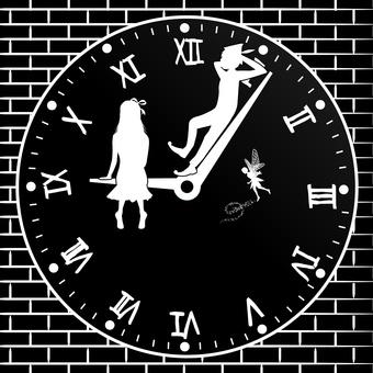 彼得潘童話童話時鐘