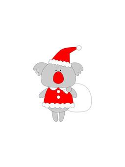 成為聖誕老人的考拉