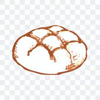 メロンパンのスケッチイラスト