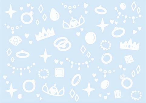 宝石模様の背景 ブルー