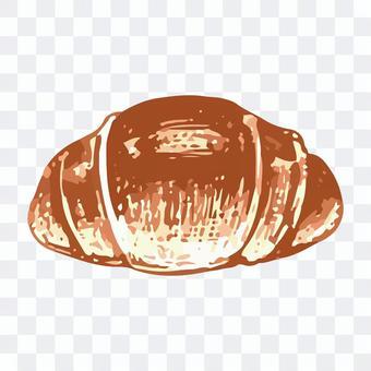 バターロールのスケッチイラスト