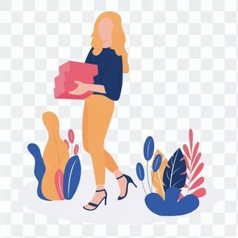 女人攜帶的東西
