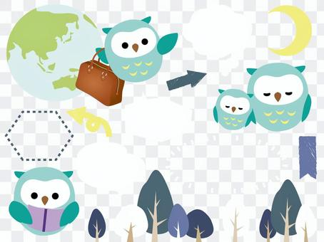 Autumn set material <Owl Forest>