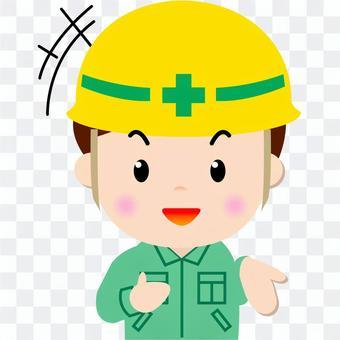 Construction worker _ upper body (speaking)