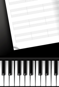 Piano and staff