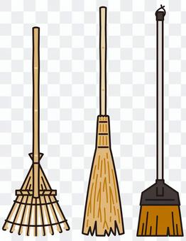 Rake bamboo broom fern broom
