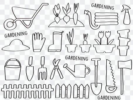 Gardening set (line only)