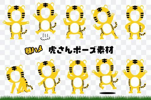 Tiger costume face squirrel material set 1