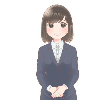 Female new employee smile type K
