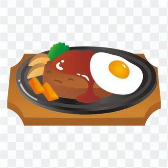 將漢堡煎雞蛋