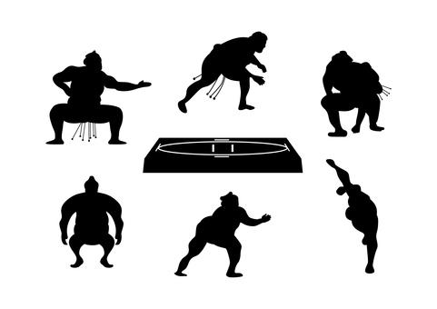 相撲剪影套 7