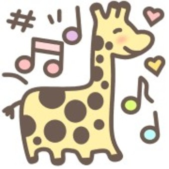 Giraffe animal animal print musical note