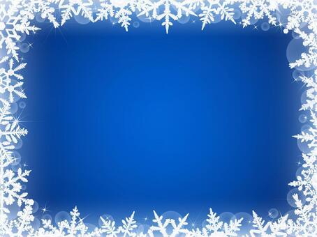 冬天背景·雪水晶框架