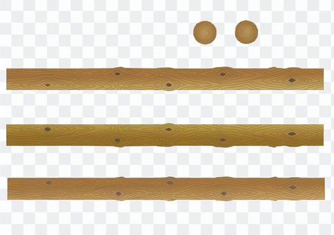 木日誌(支柱)木材