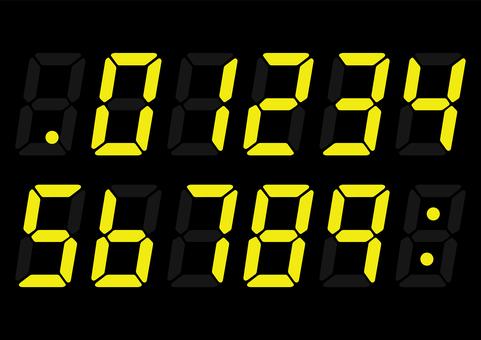 田徑運動計時器風格數字數字