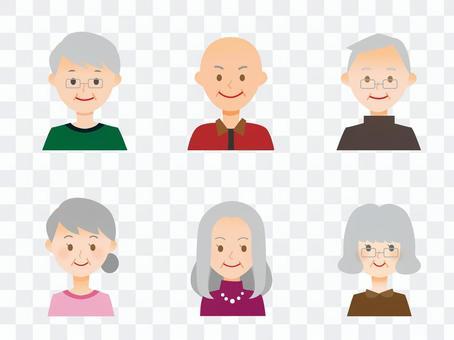 다양한 노인 남녀