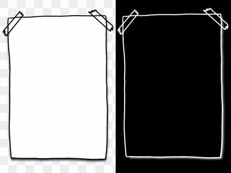 隨機粘貼玻璃紙膠帶