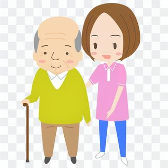 Assistance for cane walking