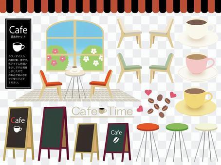 咖啡廳的插圖素材集1