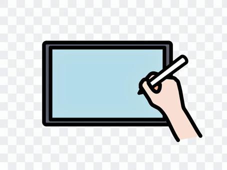 タブレットで描くイラスト シンプル