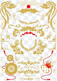 Japanese style formal decoration material