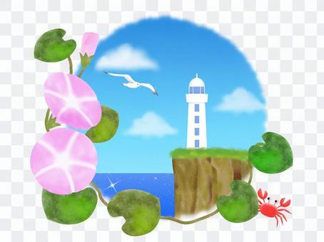 燈塔和海灘白天