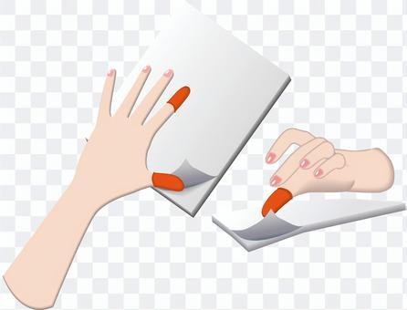 手指套紙車削辦公用品辦公室