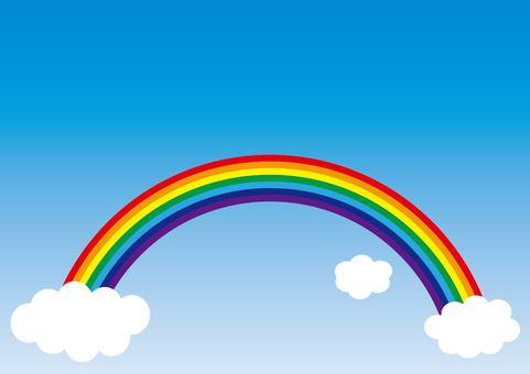 彩虹和天空和雲彩