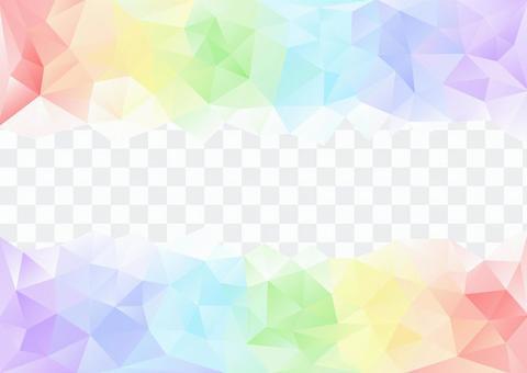 明亮的彩虹顏色多邊形背景