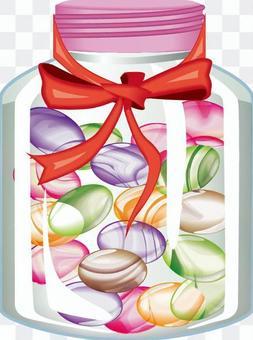 糖果糖果瓶絲帶大理石