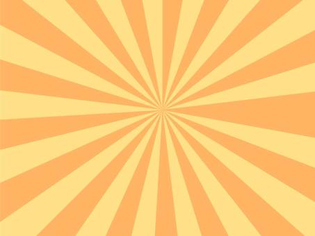 集中線橙色和黃色