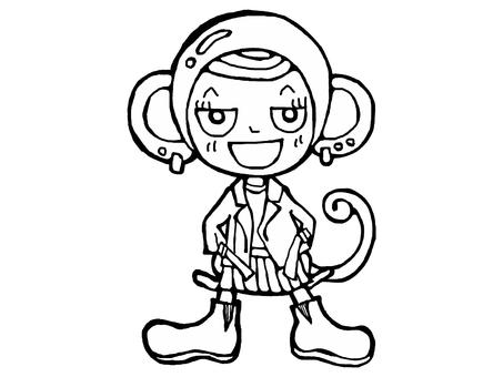 No monkey color