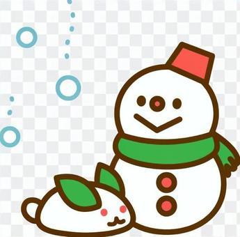 雪人和雪兔子