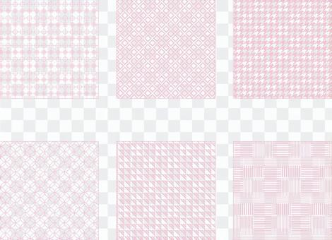 粉色簡單圖案(透明背景)